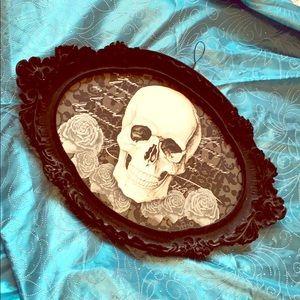 Gothic skeleton apothecary framed art 💀